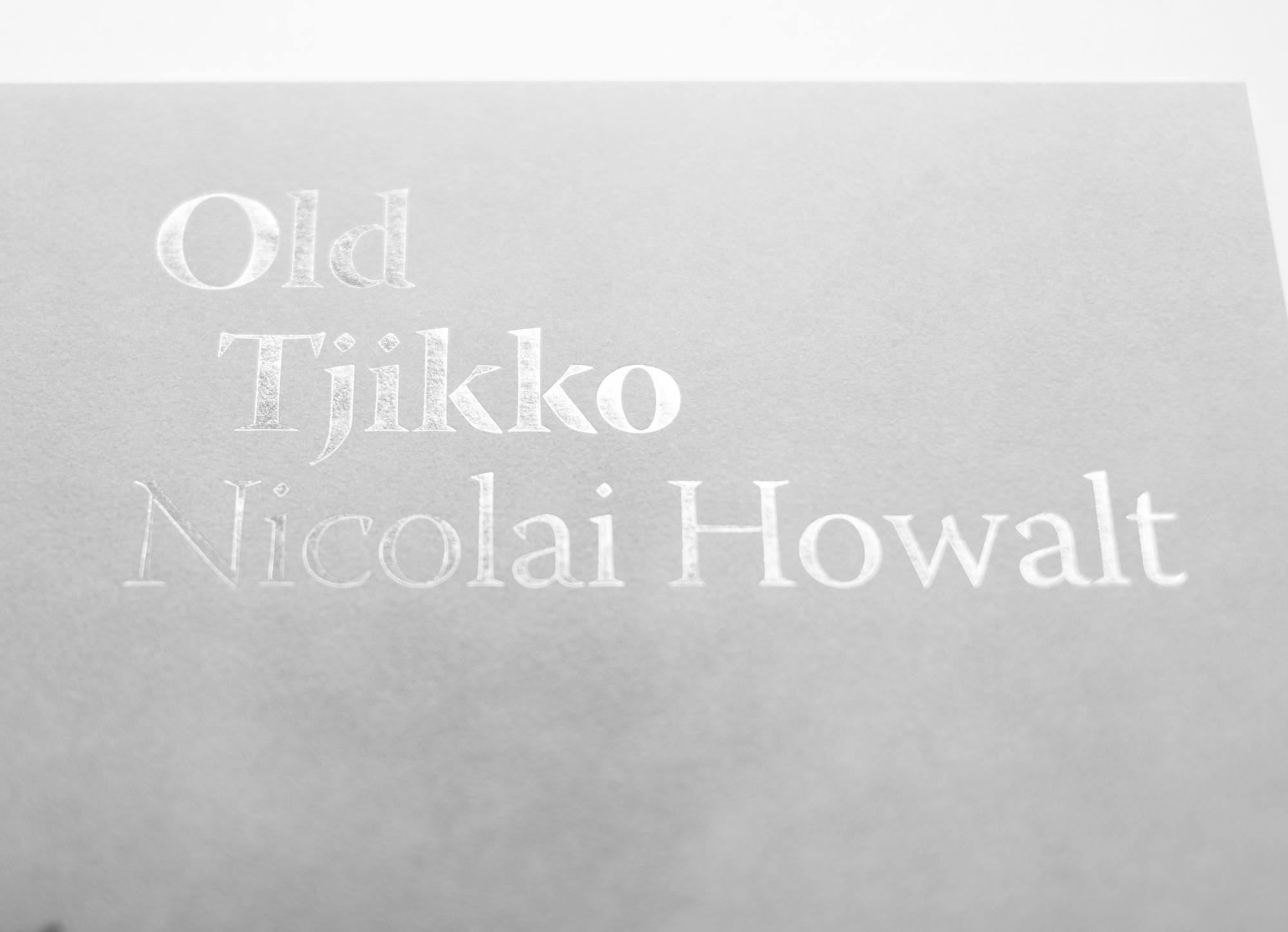Detail of silver foil imprint on Old Tjikko Poster by Nicolai Howalt