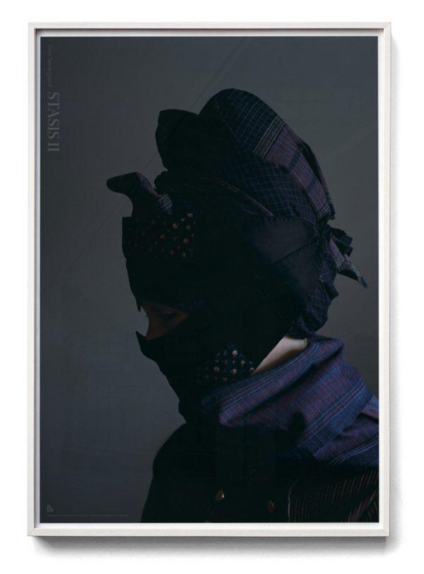 white frame with Trine Søndergaard poster 70x100
